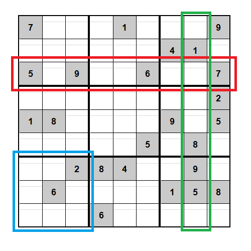The task is to fill in all the blank squares according to the rules